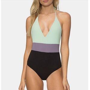 Tavik Chase Colorblock Reversible Swimsuit NWT
